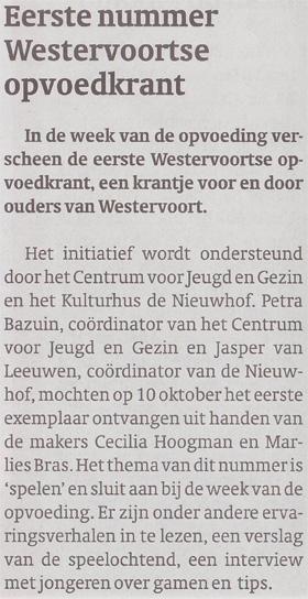 artikel_eerste_nummer_westervoortse_opvoedkrant